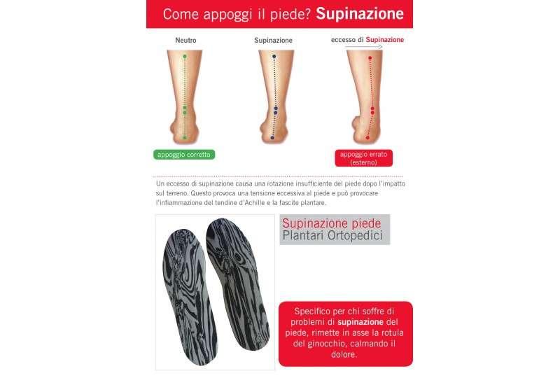 Supinazione piede - Plantari Ortopedici
