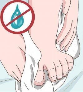 Mantenere i piedi asciutti