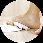 piedi asciugamano