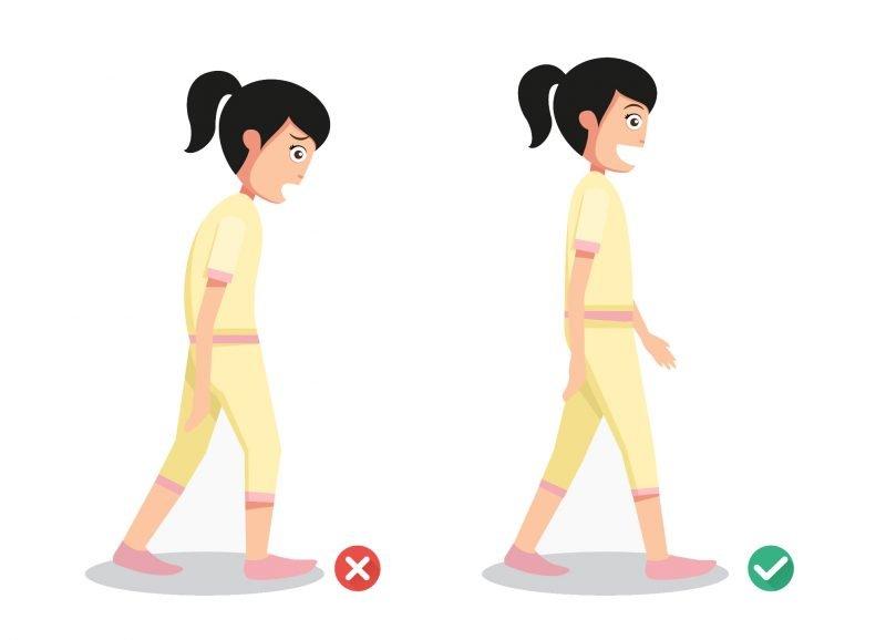 Quando sei in piedi o cammini